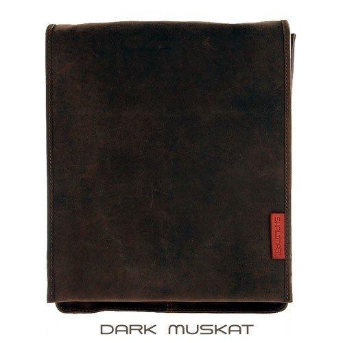 Unisex Messenger-Bag/ Herrentasche aus geöltem Buffalo Leder in A4-Format. Extremely rugged Outback Wear. , Farbe / Colour:Dark Muskat