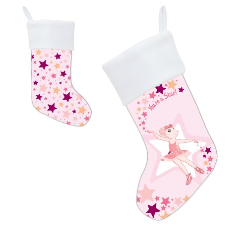 PBS KIDS Angelina Ballerina You're a Star! Christmas Stocking - 1
