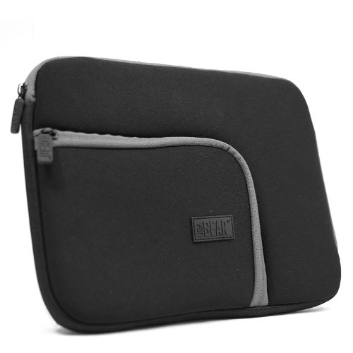 USA Gear - Custodia tipo guaina in neoprene con tasca frontale per tablet, adatta a Apple iPad Air, 4 Retina, Sony Xperia Z Tablet, Samsung Galaxy TabPRO 10.1, 3, 210.1, Google Nexus 10, Lenovo Miix 210 , Yoga 10 e altri