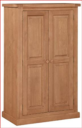 Rutland Pine Compact Two Door Wardrobe