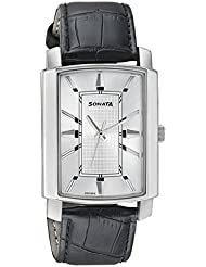Sonata Elite Silver Dial Analog Watch For Men-7092SL05