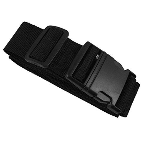 Side Release Buckle Black Adjustable Nylon Luggage Strap