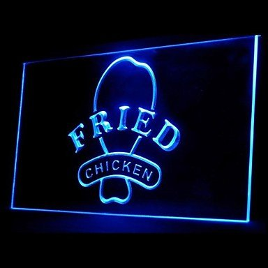 Fried Chicken Green Blue Red White Orange Purple Yellow Advertising Led Light Sign