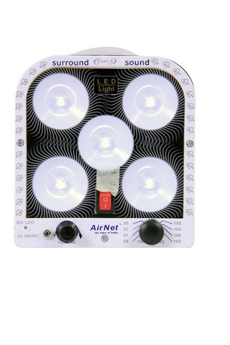 Airnet-Rechargeable-Emergency-LED-Light-5-LED-Light-With-FM-Radio