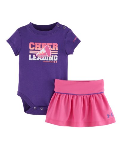 Under Armour Baby-Girls Newborn Cheerleading Skirt Set, Chaos/Pride, 6-9 Months front-1038779