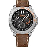 Hugo Boss Orange 1513297 Sao Paulo Men's Watch Brown Leather Strap