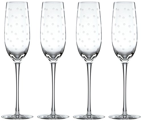 Kate Spade New York Larabee Dot Champagne Flutes, Set of 4