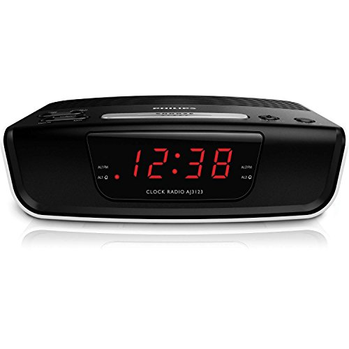 Philips AJ3123/12 Ampio Display, Sleep Timer, Nero