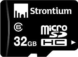 Strontium SR32GTFC6R 32GB Micro SDHC Class-6 Memory Card