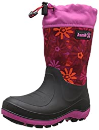 Kamik Stormin 2 Pentaswirl Snow Boot (Little Kid/Big Kid), Magenta, 2 M US Little Kid