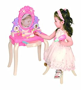 Pavlov'z Toyz Light and Sound Vanity Table Play Set, Pink,Purple,White
