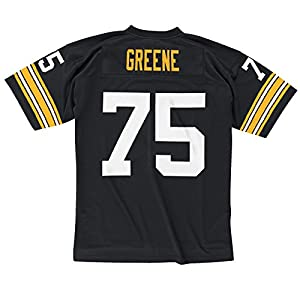 Pittsburgh Steelers Joe Greene Premier Throwback Mitchell Ness Replica Black Jersey by Mitchell and Ness