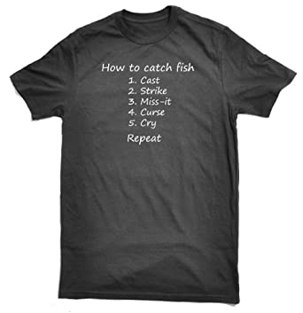 Lag3 How to catch fish 205gsm T-Shirt Black Small