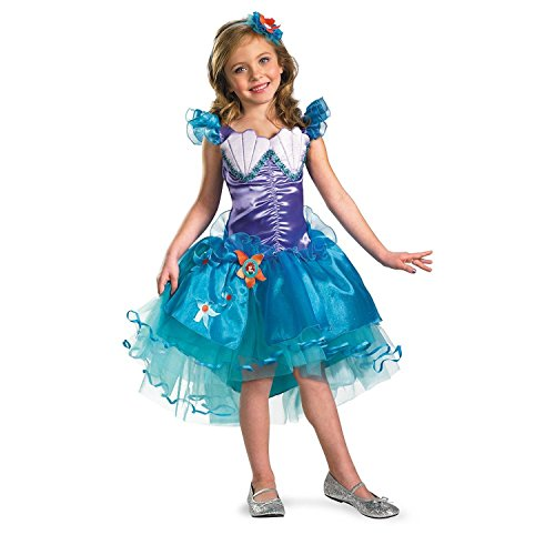 Baoer Disguise Girl`s Disney The Little Mermaid Ariel Tutu Prestige Costume 3T-4T