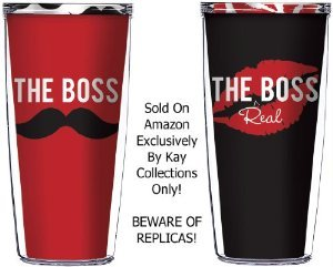 Great Wedding Gifts For Your Boss : ... The Real Boss 16 Oz Tumblers Great for Anniversary or Wedding Gifts