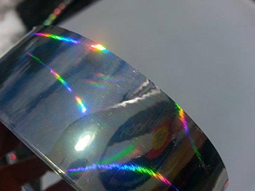 "15 ft. roll of 1"" Rainbow Morph Metallic Hula Hoop Tape"