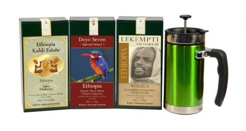 Gift Set - Coffees Of Ethiopia With Desk Press