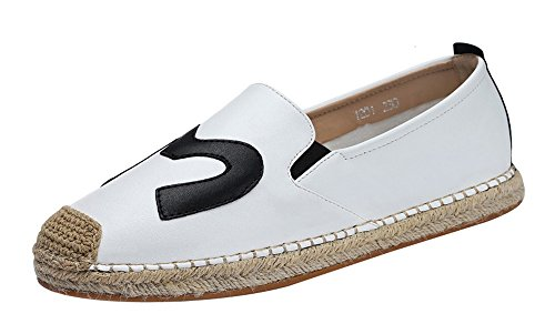 fq-real-balck-friday-womens-daily-casual-cap-toed-elastic-slip-on-flat-pu-loafer-55-ukwhite