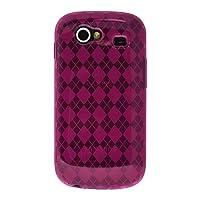 Amzer 90177 Luxe Argyle High Gloss TPU Soft Gel Skinase - Hot Pink for Samsung Nexus S, Google Nexus S