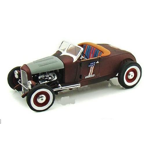 Die cast Promotions Harley Davidson   Ford Hot Rod Convertible w/ Removable Bonnet (1929, 118, Distressed Rust) diecast car model american classic design vehicle auto automobile die cast metal iron replica toy