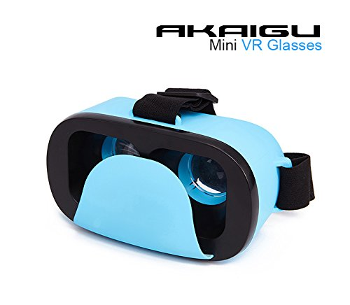 Akaigu Cardboard Mini 3D VR Glasses, Portable Virtual Reality Headset for iPhone, Android, IOS,Microsoft And PC phones Series
