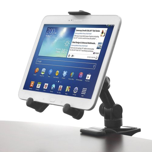 iKross 2-in-1 Tablet & Cellphone Adjustable Swing Arm Desk Mount Bracket Holder for iPad Air 5 4 3 Mini with Retina Display, iPhone 6 6 Plus; Samsung Galaxy Tablet, Dell Venue, Asus Iconia, Acer Transformer, Lenovo Tablet and more
