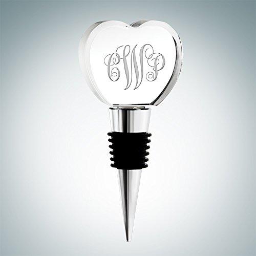 Monogram Crystal Wine Stopper (Heart) (Monogram Wine Stopper S compare prices)