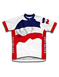 Los Altos Flag Short Sleeve Cycling Jersey for Women