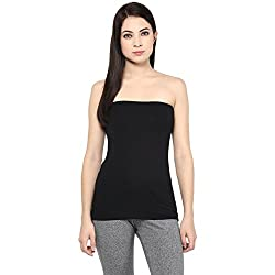Ajile by Pantaloons Women's Casual Solid Tank Top (205000005573211_Black_ XS)