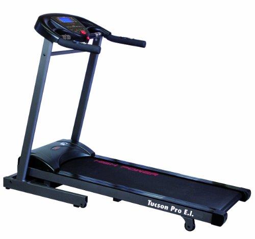 HIGH POWER TUCSON PRO E.I. tapis roulant elettrico per home-fitness con motore 2,0-4,0 HP, inclinazione elettica 0-10%, nastro 123x41, portata 120 KG