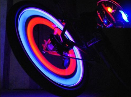 Lily'S Gift 1 Pair Bike Bicycle Cycle Cycling Tyre Wheel Spoke Led Colorful Light Lamp