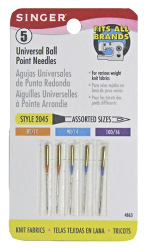 Best Review Of Singer Universal Ball Point Machine Needles 5-Count