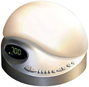 Biobrite Sunrise Clock Radio Platinum Health