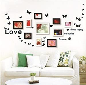 Amazon.com - Lovely Fluttering Butterflies Photo Wall creative DIY ...