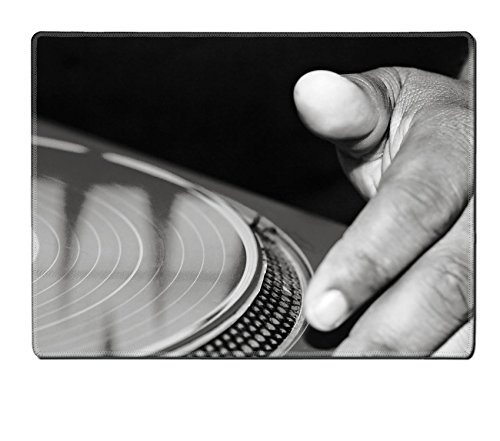 Liili Premium Placemat Kitchen Table 15.8 x 12 x 0.2 inches A DJ scratches a red record Photo 14117071