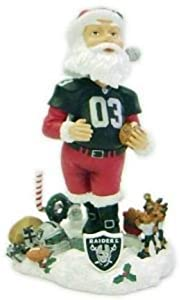 Oakland Raiders Santa Claus Forever Collectibles Bobble Head by Forever Collectibles