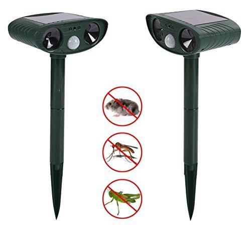 ciaraq-set-of-2-solar-powered-cat-repellentultrasonic-animal-repellent-deterrent-scarer-motion-senso