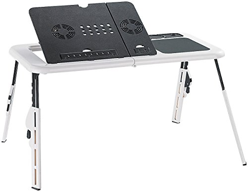General-Office-Notebooktisch-mit-2-USB-Lftern-klappbar