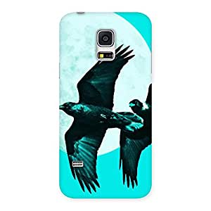 Gorgeous Raven Cyan Back Case Cover for Galaxy S5 Mini