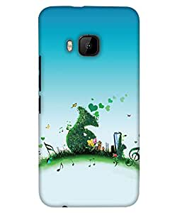 Print Haat Back Cover for HTC One M9 (Multi-Color)