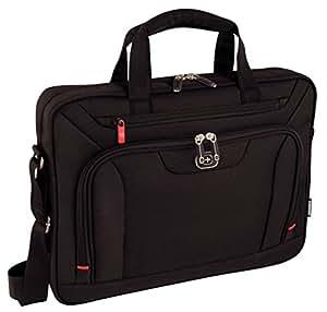 """Wenger 600658 INDEX 16"""" Laptop Slimcase with Tablet / eReader Pocket (Black)"""