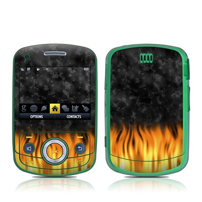 BBQ Flame Design Decal Skin Sticker for the Samsung Reclaim M560 Cell Phone