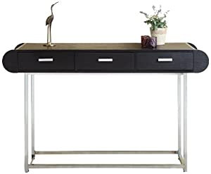 Furniture of america 3 drawer bella modern for 8 deep console table