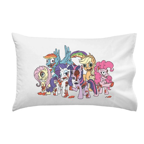 Cartoon Ponies As Zombies Parody Colorful - Pillow Case Single Pillowcase front-885674