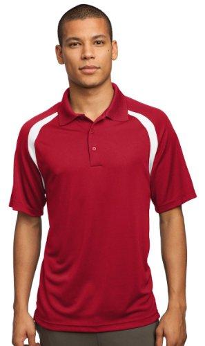 Sport-Tek Men'S Performance Colorblock Polo Shirt_True Red/White_L front-1067408