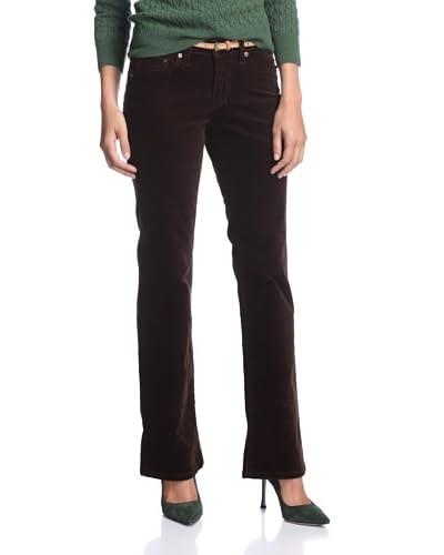 Jag Jeans Petite Women's Carla Boot Corduroy Pant  [Dark Truffle]