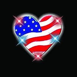 Heart Of America Flashing Blinking Light Up Body Lights Pins (5 Pack)