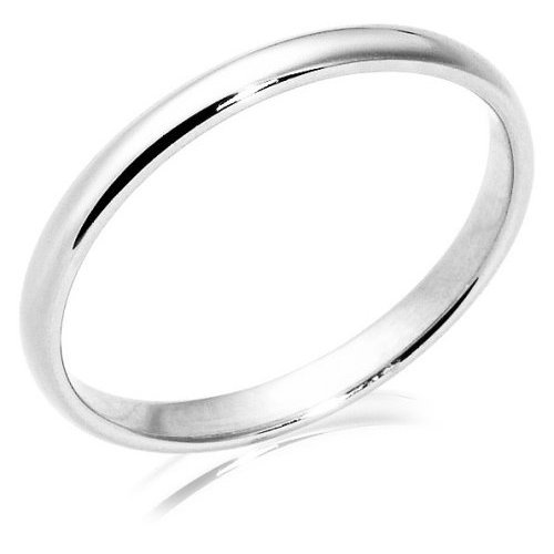 Women's Platinum 2mm Traditional Wedding Band Ring, Size 5