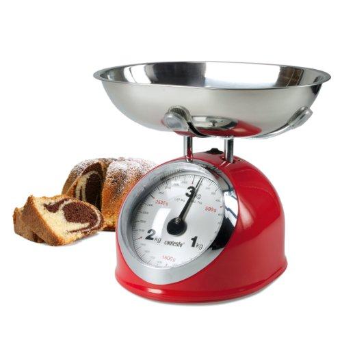 Contento 655400 balance culinaire rétro rouge