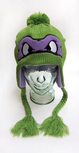 Teenage Mutant Ninja Turtles Donatello Face Headphones Laplander Knit Cap
